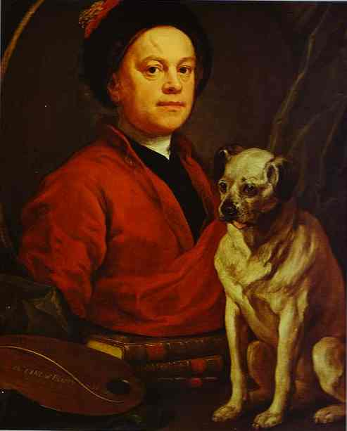 William Hogarth and his Pug Dog Trump