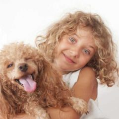 Girl with New Puppy